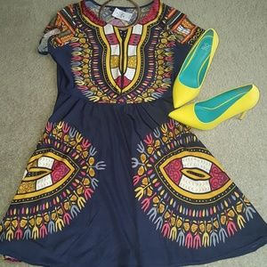 """""""Tribal"""" print fit and flare"""